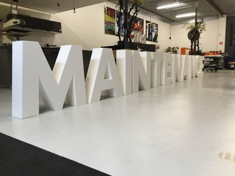 Piepschuim letters Maintenance