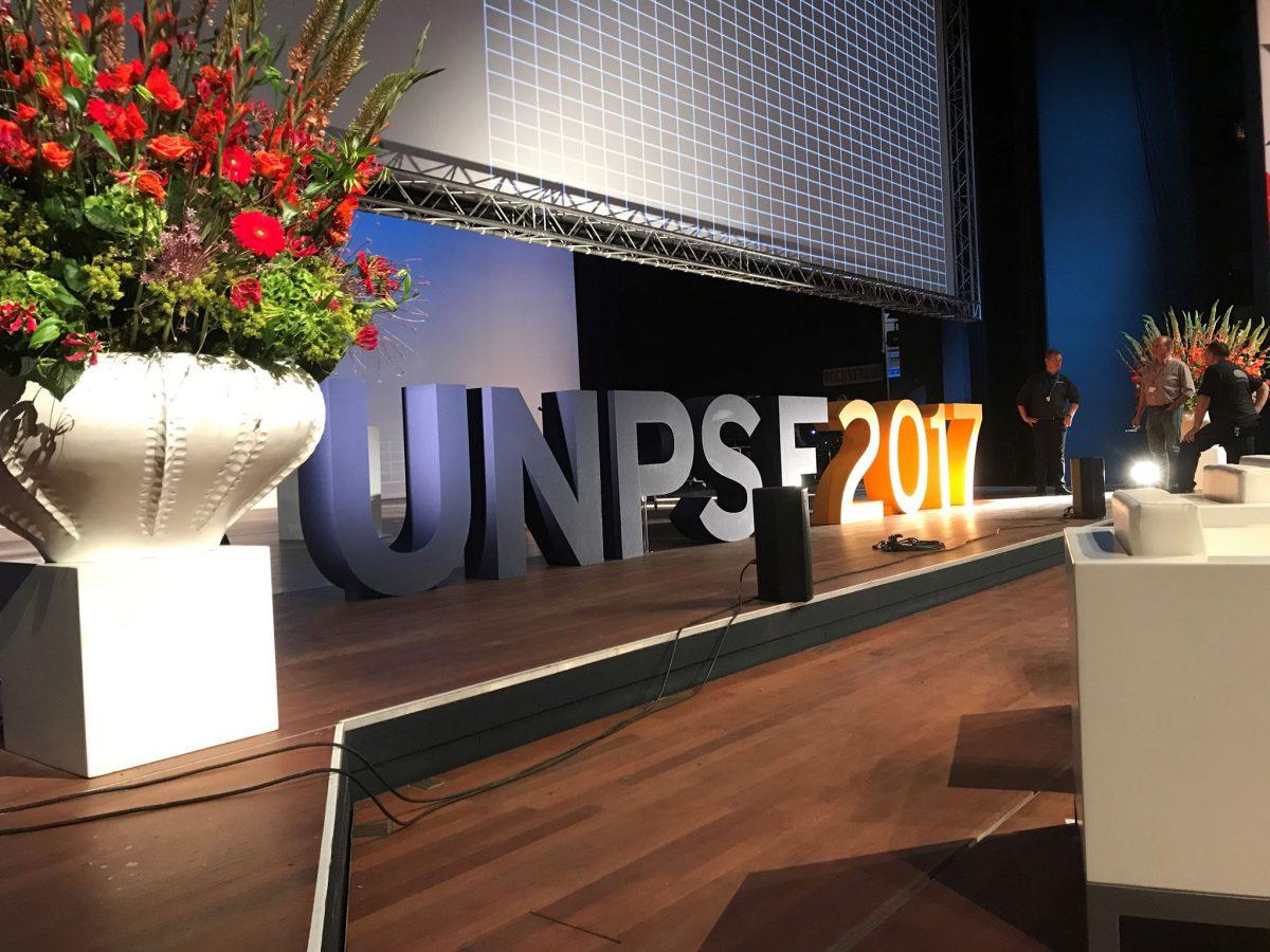 Piepschuim letters UNPSF